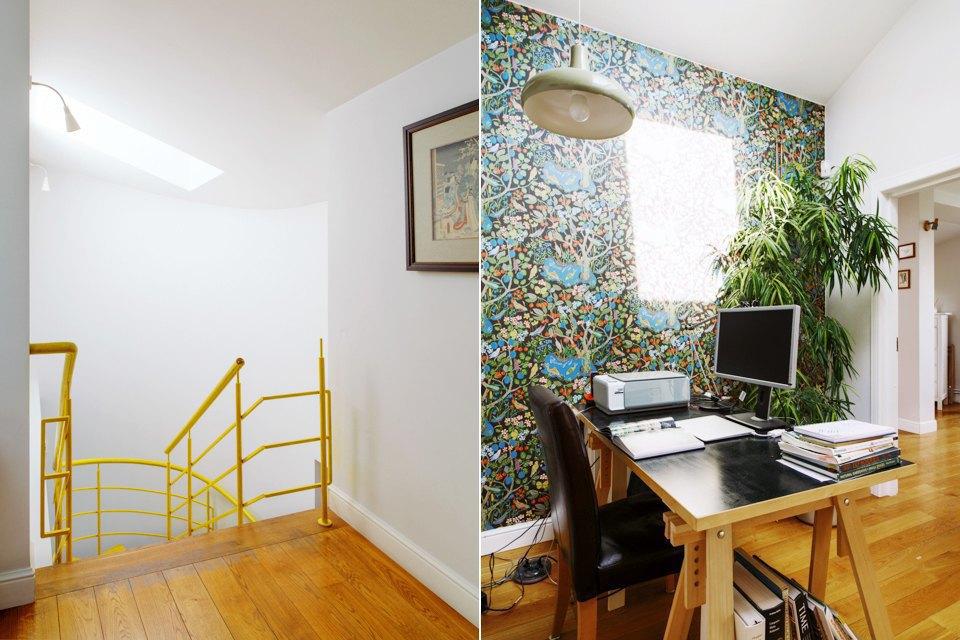 Двухэтажная квартира сжёлтой лестницей исадом набалконе . Изображение № 19.