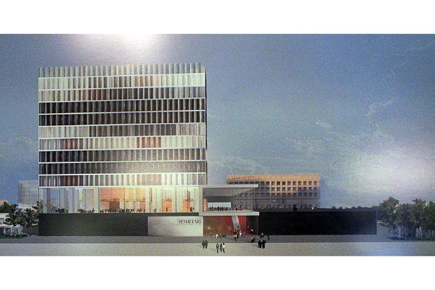 Фондохранилище Эрмитажа построят по проекту Рема Колхаса. Изображение №1.