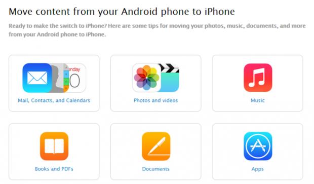 Apple выпустила инструкцию для перехода с Android на iOS. Изображение № 1.