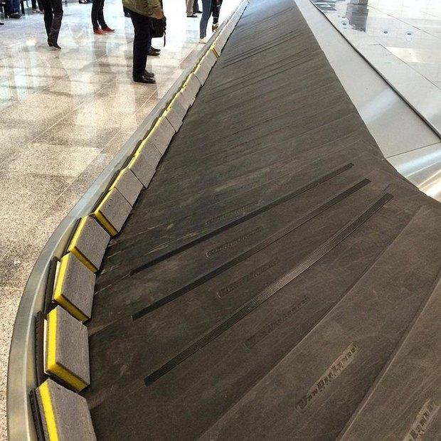 Ленту выдачи багажа вПулкове модернизировали спомощью губок . Изображение № 1.