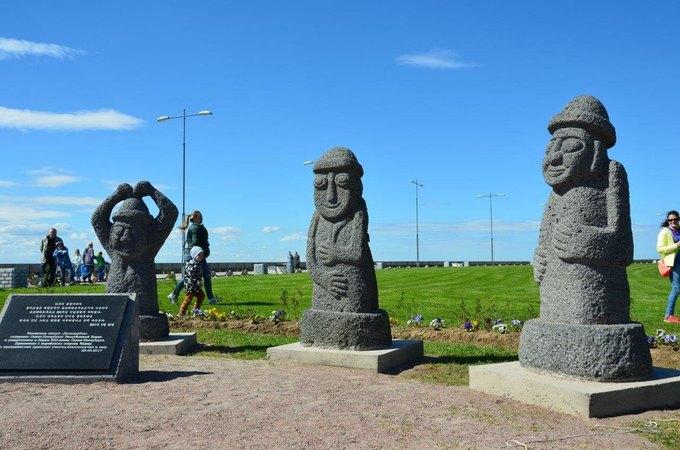 Впарке 300-летия Петербурга появились 5 корейских скульптур извулканической лавы