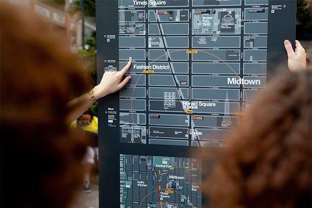 Система пешеходной навигации в Нью-Йорке Авторы: City ID, Pentagram, T-Kartor, 2013 год. Изображение № 15.