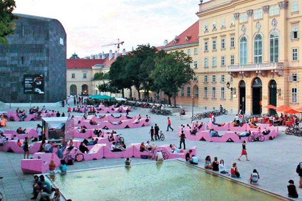 В парке Горького установят скамейки-конструкторы из Вены. Изображение № 3.