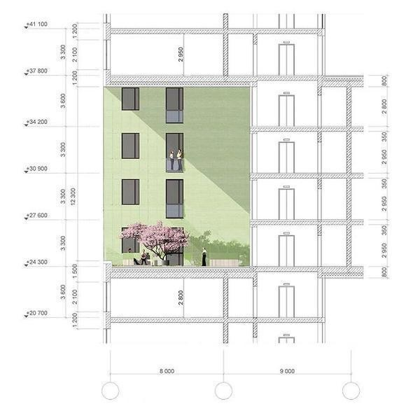 Изображение 7. В Москве построят многоэтажку с зелёными дворами на разных этажах.. Изображение № 9.