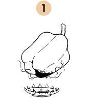 Рецепты шефов: Запечённый болгарский перец с домашним йогуртом. Изображение № 5.