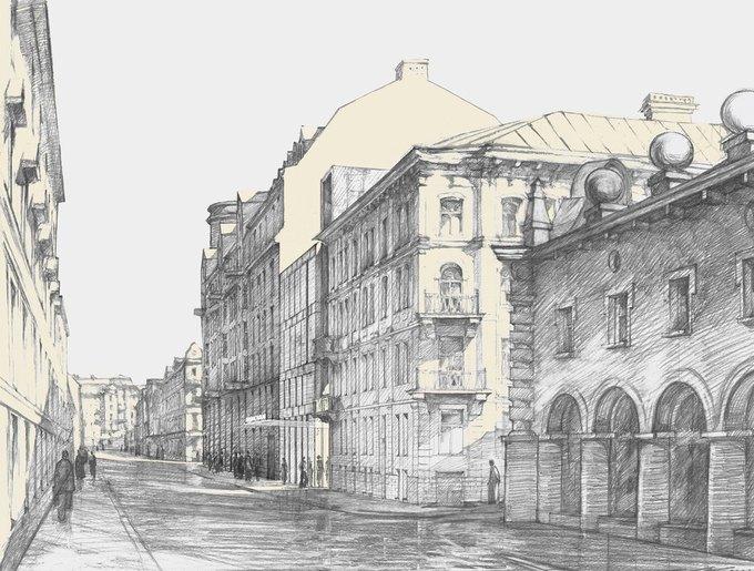 Появился проект современной пристройки для музея Достоевского. Изображение № 7.