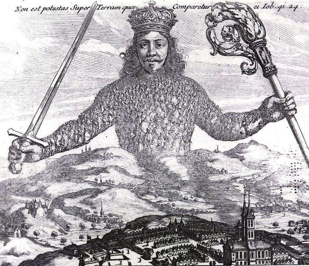 Обложка книги «Левиафан, или Материя, форма и власть государства» Томаса Гоббса.. Изображение № 2.