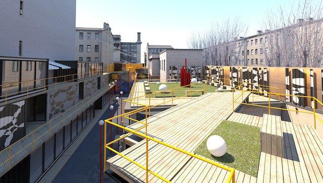 Во дворе «Этажей» появится улица изконтейнеров . Изображение № 2.