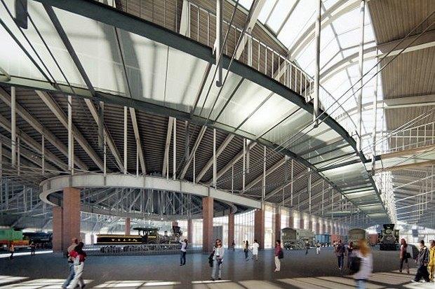 Опубликован проект железнодорожного музея на Балтийском вокзале. Изображение № 3.