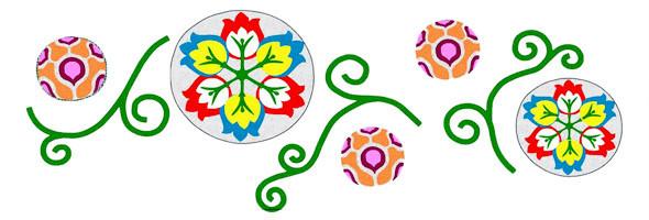 Эскиз цветочной композиции, которая появится на въезде в город. . Изображение № 2.
