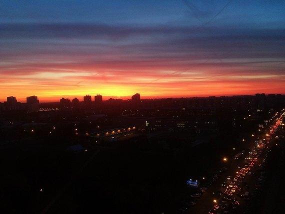 Осенний закат вМоскве. Изображение № 7.