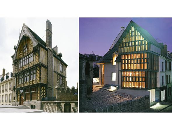 1. Жилой дом, Амьен, Франция, XV век. Фото: Уилл Прайс 2. Жилой дом, Франция, архитектор Эрик Пасе, 2004. Фото: Eric Pace. Изображение № 12.