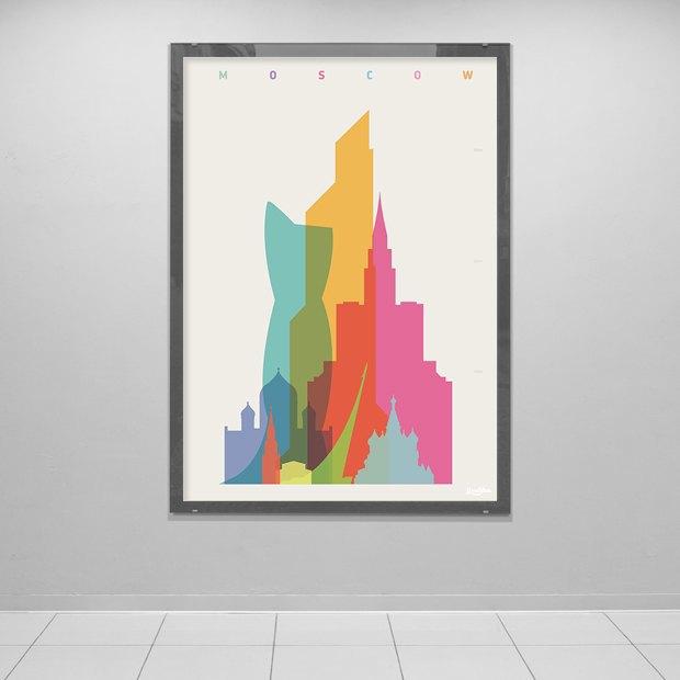 Дизайнер Йони Алтер— оновом постере с храмом Христа Спасителя и башней «Эволюция». Изображение № 2.