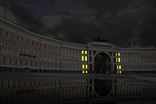 На ночь глядя: 12 проектов подсветки Главного штаба. Изображение № 57.