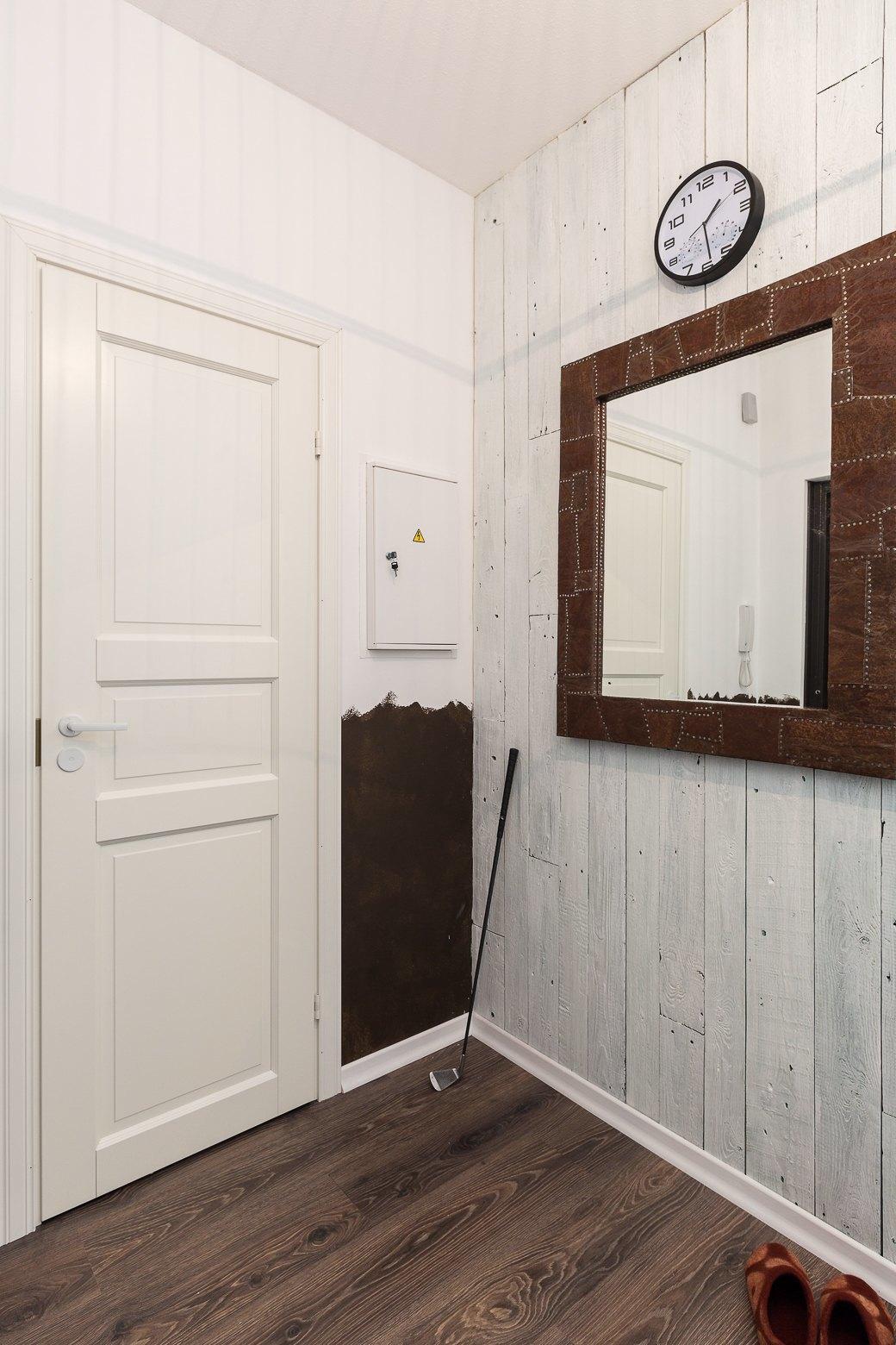 Компактная квартира вДевяткино сбарной стойкой ивинтажными элементами . Изображение № 17.