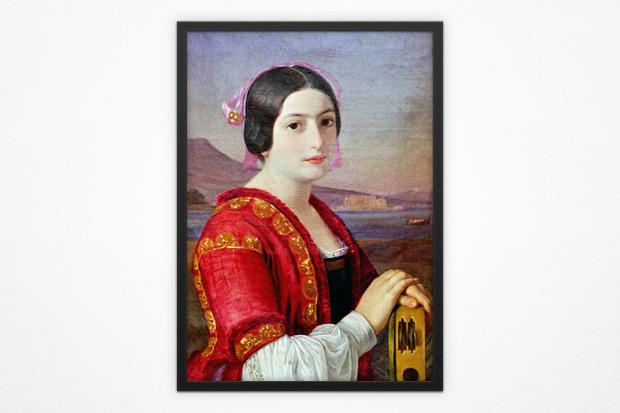 Иван Шаповаленко, «Итальянка», 1851 год. Изображение № 4.