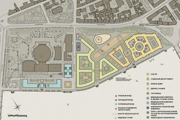Суд идёт: четыре проекта квартала на месте «Набережной Европы». Изображение №25.