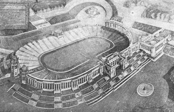 Проект стадиона, 1936 год. Изображение № 20.