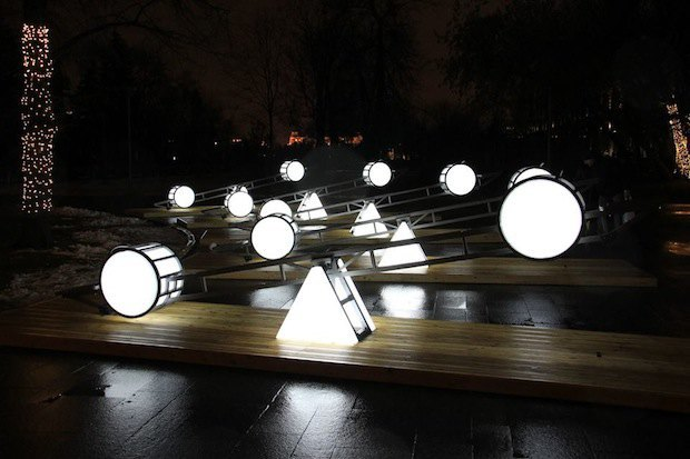 Световые качели в парке «Музеон». Изображение № 1.