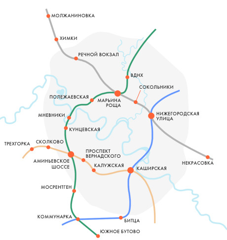 Проектируемые новые хорды московского метро. Изображение № 1.