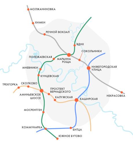 хорды московского метро