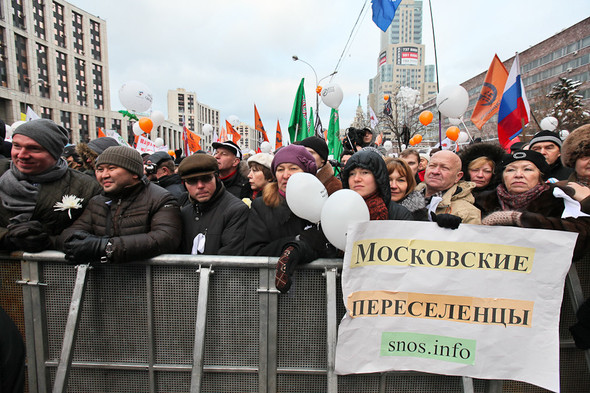 Митинг «За честные выборы» на проспекте Сахарова: Фоторепортаж, пожелания москвичей и соцопрос. Изображение № 56.