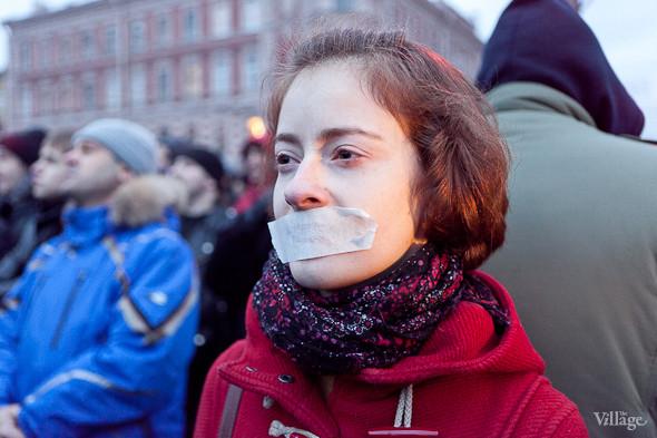 Фоторепортаж: Митинг против фальсификации выборов в Петербурге. Изображение № 28.