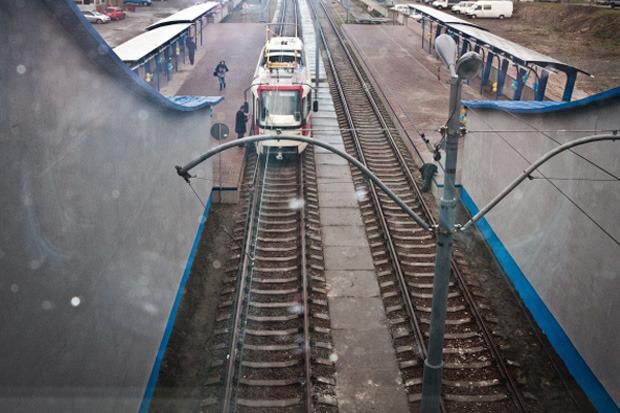 Вместо метро: На Троещине запустили скоростной трамвай. Зображення № 6.