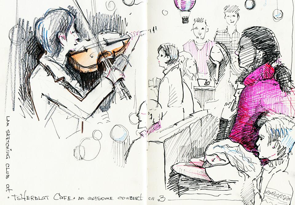 Клуб рисовальщиков: Музыканты. Изображение № 11.