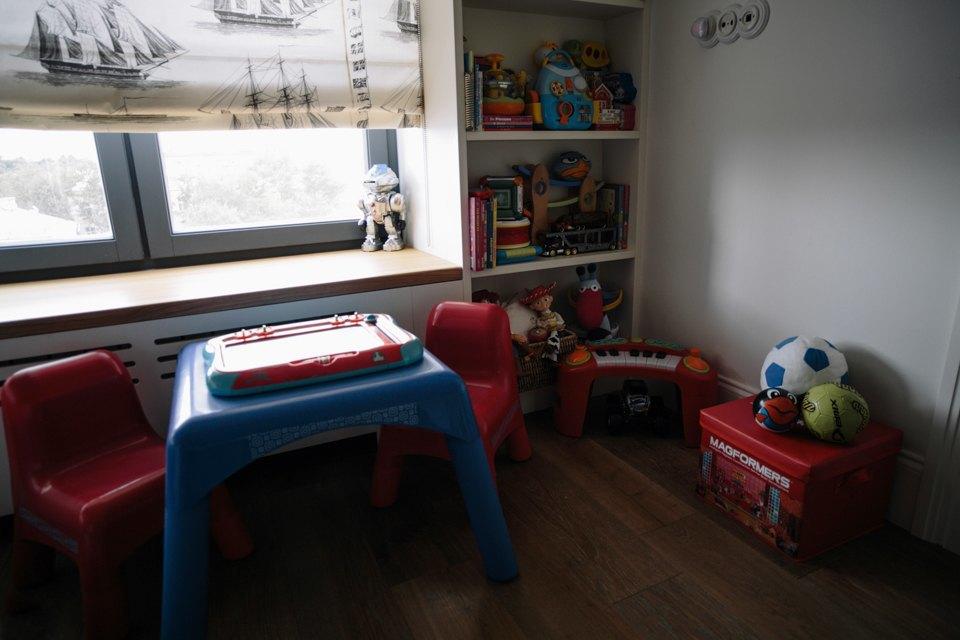 Четырёкомнатная квартира в американском стиле для семьи сдвумя детьми. Изображение № 37.