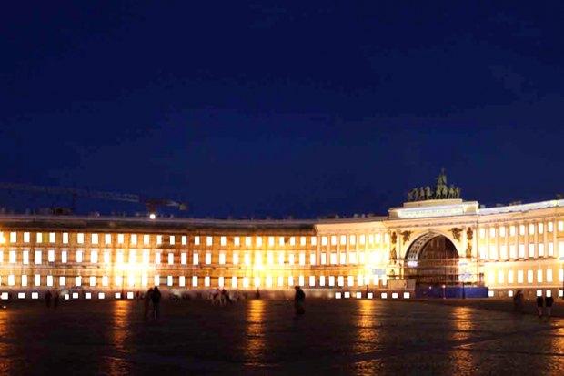 На ночь глядя: 12 проектов подсветки Главного штаба. Изображение № 72.