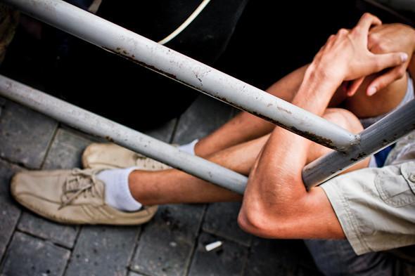 Copwatch: действия полиции на «сидячем» митинге «Стратегии-31» на Триумфальной площади. Изображение № 5.