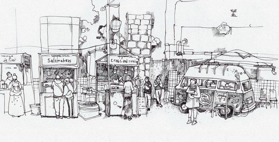 Клуб рисовальщиков: Городской маркет еды на Соколе. Изображение № 3.