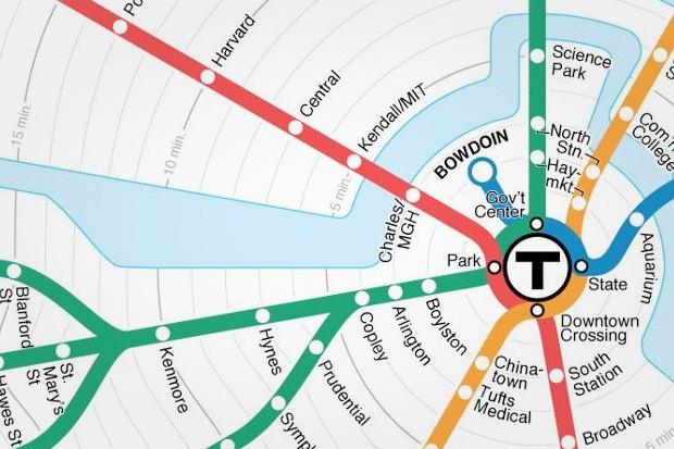 Идеи для города: Карта метро Бостона с временными отрезками. Изображение № 4.