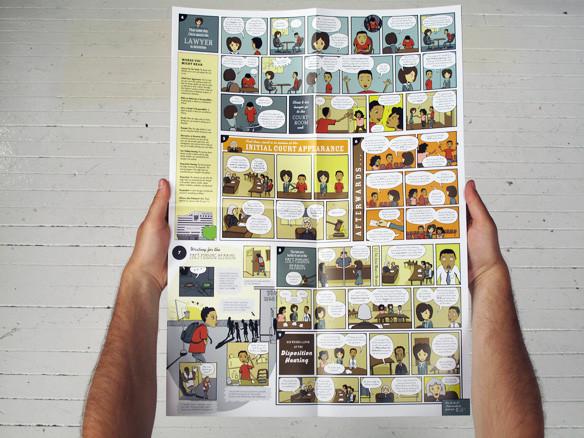...До создания специальных комиксов, которые в доступной форме разъясняют задержанным полицией их законные права.. Изображение № 34.