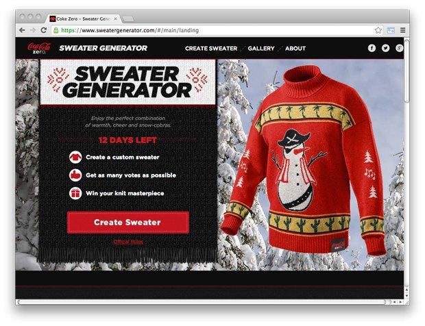 Ссылки дня: Онлайн-генератор свитеров, новый трек The Uchpochmack и Международный день ребёнка. Изображение № 1.
