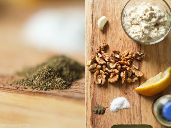Постная намазка из тофу и грецких орехов. Изображение № 1.