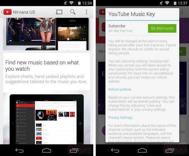 Доступ кмузыкальному сервису отYouTube обойдётся в9,99 доллара вмесяц. Изображение № 5.