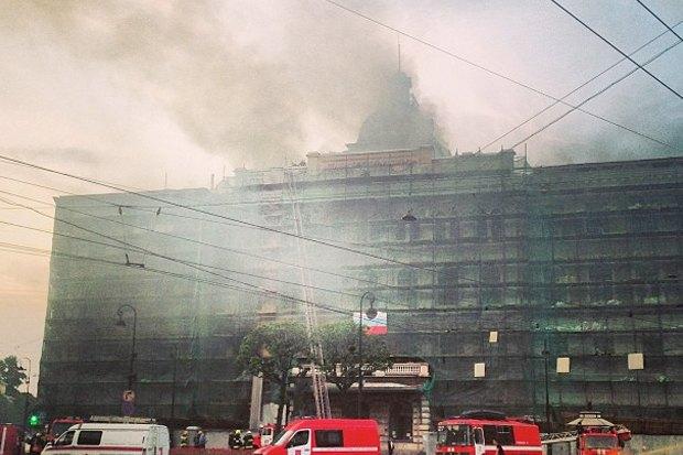 Фото дня: Пожар в Технологическом институте. Изображение № 2.