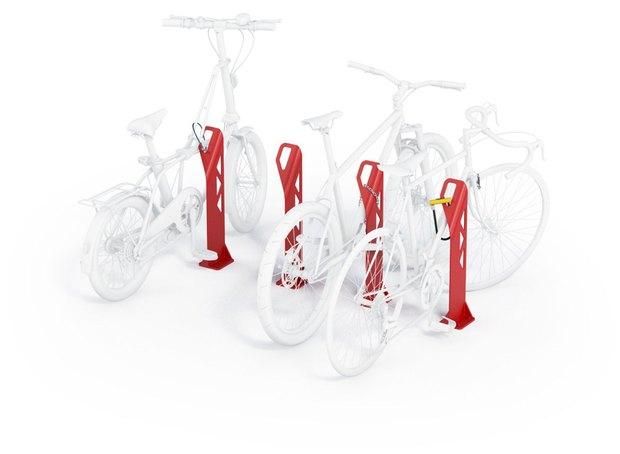 Студия Лебедева разработала концепт уличных велопарковок. Изображение № 2.