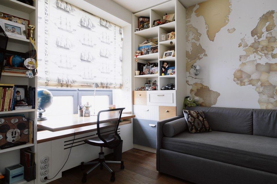 Четырёкомнатная квартира в американском стиле для семьи сдвумя детьми. Изображение № 38.