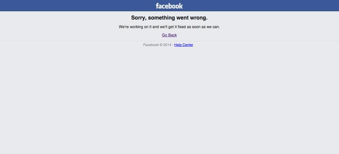 В работе Facebook произошёл сбой (обновлено). Изображение № 1.