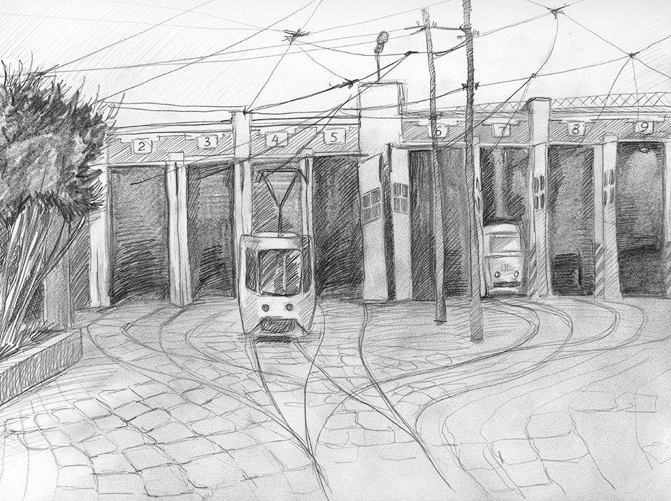 Клуб рисовальщиков: Московские трамваи. Изображение № 3.