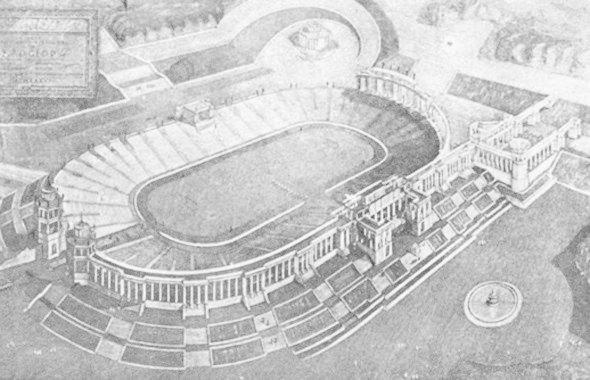 Проект стадиона, 1936 год. Изображение № 1.