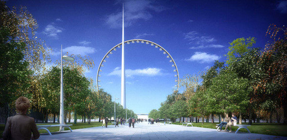 В Москве хотят построить самое высокое в мире колесо обозрения. Изображение № 2.