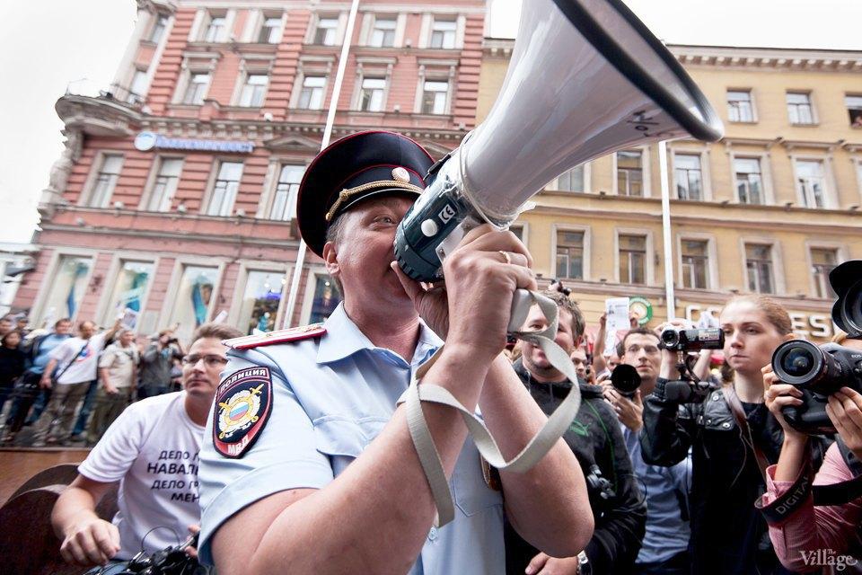 Фоторепортаж: «Народный сход» вподдержку Навального вПетербурге. Изображение № 14.