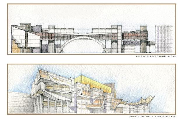 Архитектурное решение комплекса фондохранилища. Вариант 2. Изображение № 7.