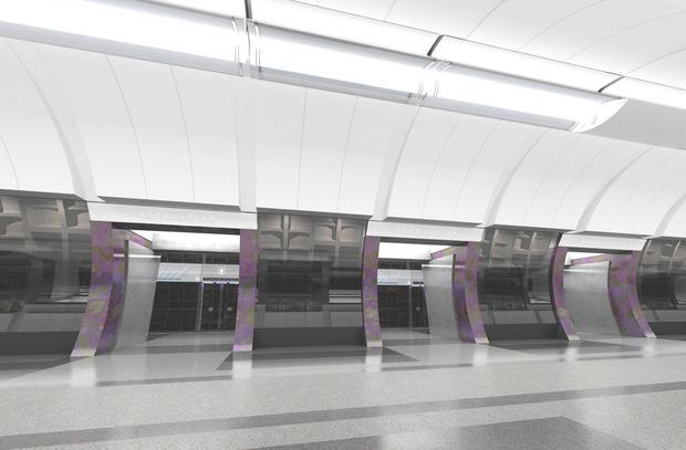Проект станции «Хорошевская». Изображение с сайта «Метрогипротранса». Изображение № 3.