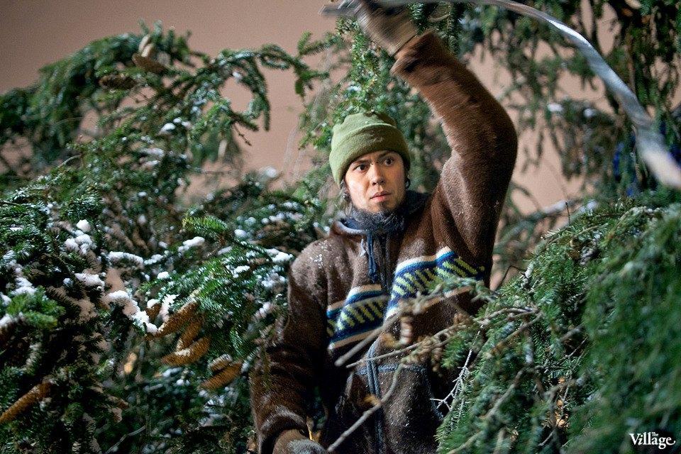 Фоторепортаж: Как устанавливали главную петербургскую ёлку. Изображение № 29.