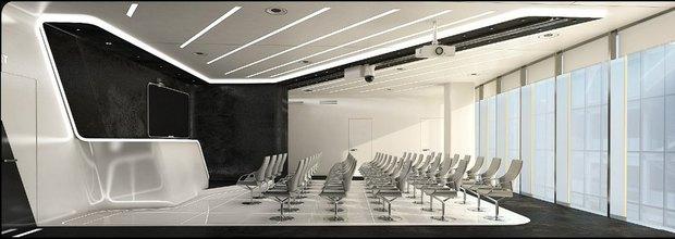 Студенты архитектурных вузов представили проекты интерьеров «Лахта-центра». Изображение № 4.